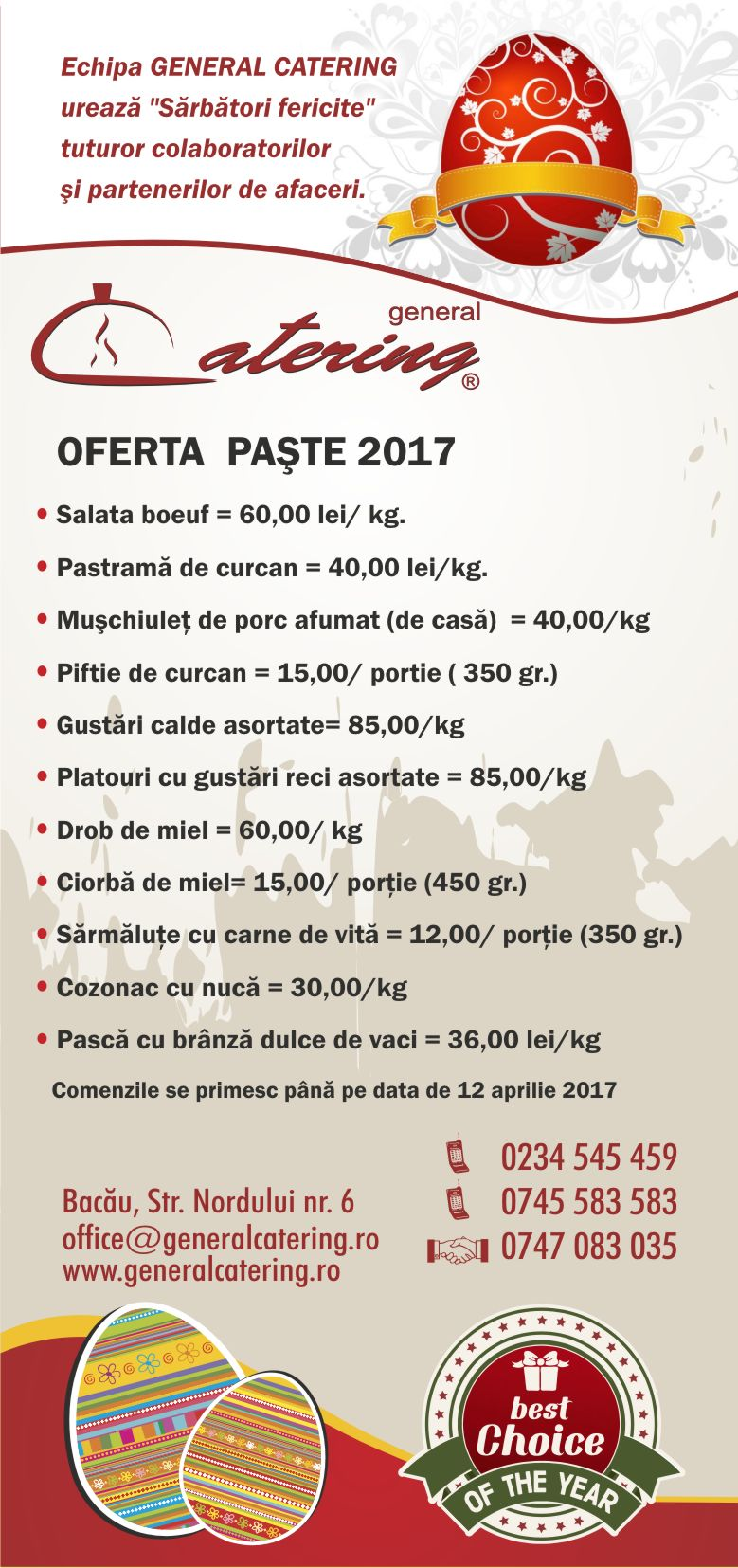oferta paste 2017