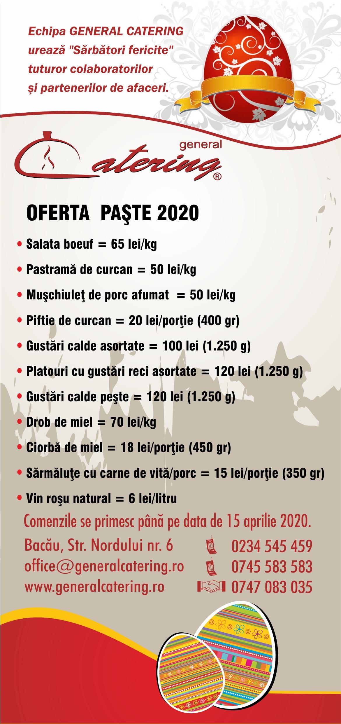 oferta paste 2020